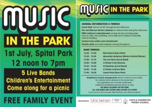 Music in the Park 5 Days to Go!