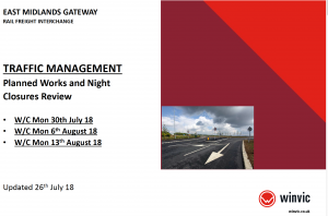 EMG Traffic Management Planned Works & Night Closures 30 July