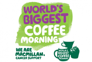28th Sept Macmillan Coffee Morning @ The Hub