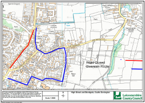 TEMPORARY ROAD CLOSURE OF: HIGH STREET AND BONDGATE, CASTLE DONINGTON