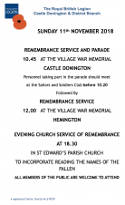 REMEMBRANCE SERVICE AND PARADE