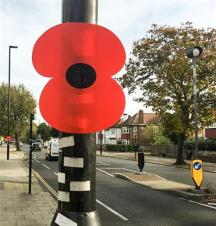 British Legion Lamp Post Poppies