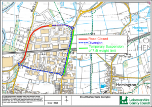 TEMPORARY TRAFFIC REGULATION ORDER  BROAD RUSHES, STATION ROAD
